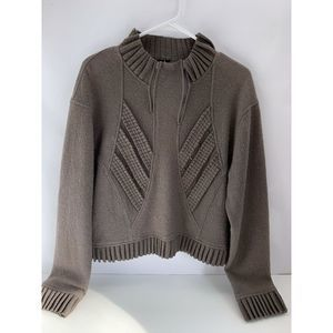 Animale Gray Asymmetrical Sweater Wool Blend 8